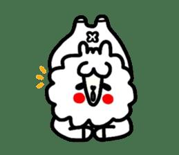 Alpaca of drooping eyes(Reaction series) sticker #842071