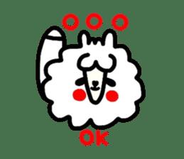Alpaca of drooping eyes(Reaction series) sticker #842077
