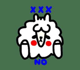 Alpaca of drooping eyes(Reaction series) sticker #842078