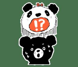 Michael and Panda bear sticker #844661