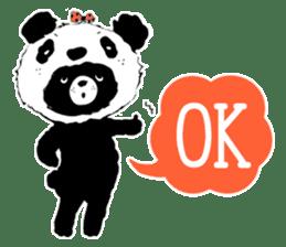 Michael and Panda bear sticker #844662