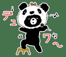 Michael and Panda bear sticker #844664