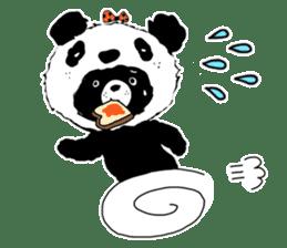 Michael and Panda bear sticker #844665