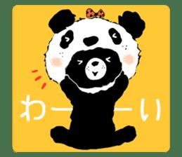 Michael and Panda bear sticker #844666