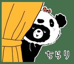 Michael and Panda bear sticker #844670