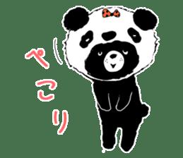 Michael and Panda bear sticker #844673