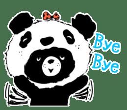 Michael and Panda bear sticker #844674