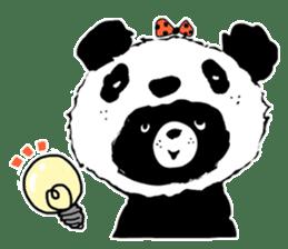 Michael and Panda bear sticker #844675