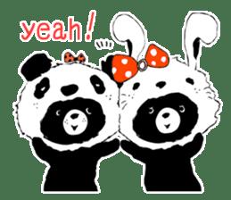 Michael and Panda bear sticker #844678