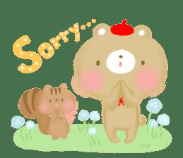 Bear Cub with friends sticker #845413