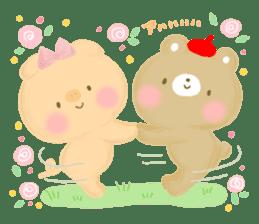 Bear Cub with friends sticker #845416