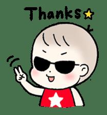 A baby waring sunglasses (English) sticker #845444