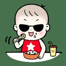 A baby waring sunglasses (English) sticker #845457