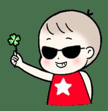 A baby waring sunglasses (English) sticker #845463