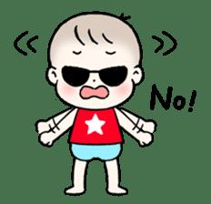 A baby waring sunglasses (English) sticker #845467