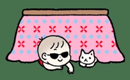 A baby waring sunglasses (English) sticker #845476