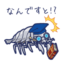 Giant Isopod and animals in the deep sea sticker #847363
