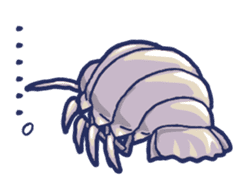 Giant Isopod and animals in the deep sea sticker #847397