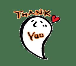 Marshmallow Ghost Matthew sticker #847609