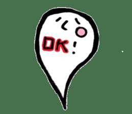 Marshmallow Ghost Matthew sticker #847614
