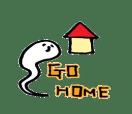 Marshmallow Ghost Matthew sticker #847636