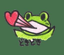 frog place KEROMICHI-AN onomatopoeia sticker #848241