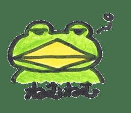 frog place KEROMICHI-AN onomatopoeia sticker #848254