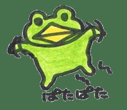 frog place KEROMICHI-AN onomatopoeia sticker #848257