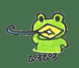 frog place KEROMICHI-AN onomatopoeia sticker #848261