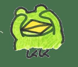 frog place KEROMICHI-AN onomatopoeia sticker #848264