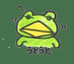 frog place KEROMICHI-AN onomatopoeia sticker #848272