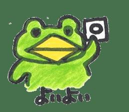 frog place KEROMICHI-AN onomatopoeia sticker #848274