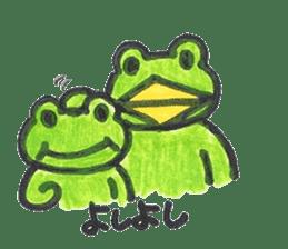 frog place KEROMICHI-AN onomatopoeia sticker #848275