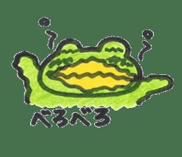 frog place KEROMICHI-AN onomatopoeia sticker #848277