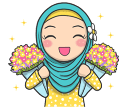 Flower Hijab 2 sticker #849721