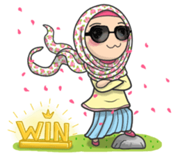 Flower Hijab 2 sticker #849723