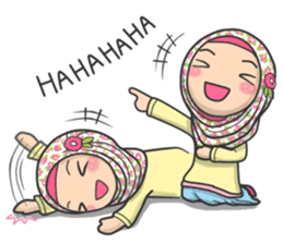 Flower Hijab 2 sticker #849725