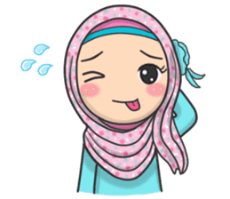Flower Hijab 2 sticker #849733
