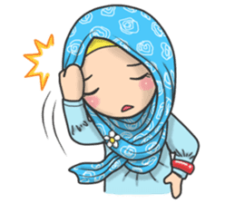 Flower Hijab 2 sticker #849736