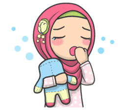 Flower Hijab 2 sticker #849744