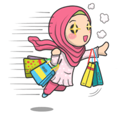Flower Hijab 2 sticker #849751