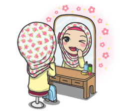 Flower Hijab 2 sticker #849752