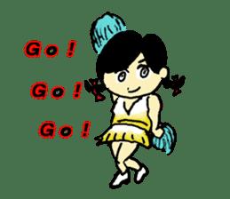Go!Go! cheerleader sticker #851001