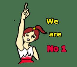 Go!Go! cheerleader sticker #851003