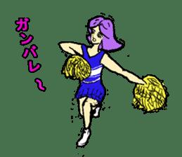 Go!Go! cheerleader sticker #851012