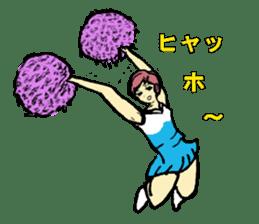 Go!Go! cheerleader sticker #851025