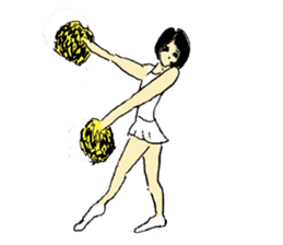 Go!Go! cheerleader sticker #851033