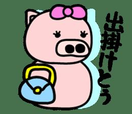 Pig of the words of Kobe sticker #851245