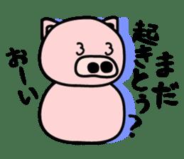 Pig of the words of Kobe sticker #851267