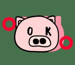 Pig of the words of Kobe sticker #851276